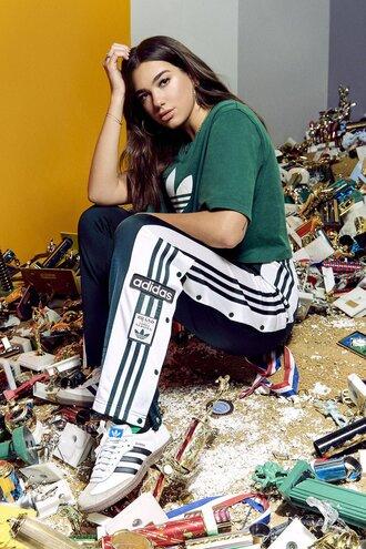 top pants sweatpants dua lipa instagram editorial sneakers