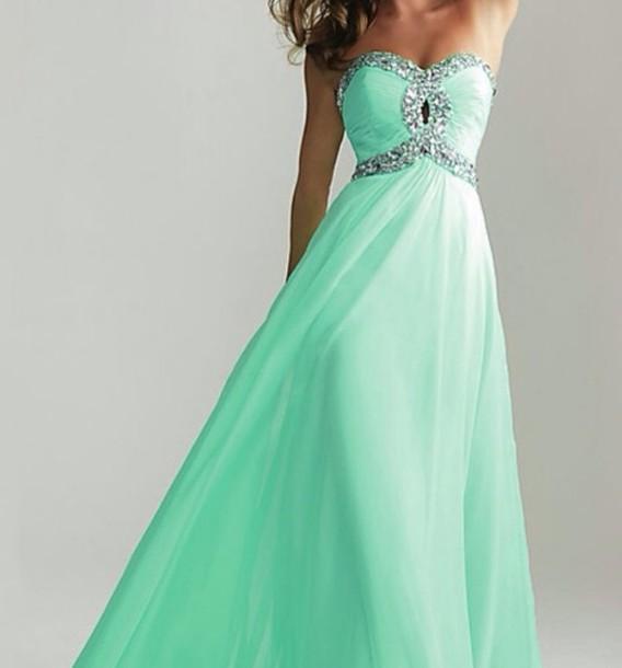 dress formal dress long prom dress turquoise glitter dress long