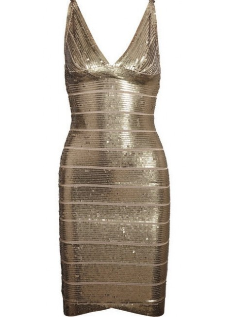Priveclothing.com 'hayley' gold sequins v