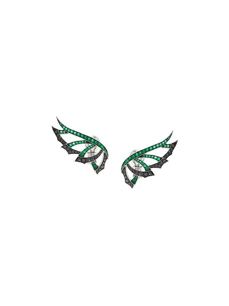 Stephen Webster women earrings gold white black green jewels