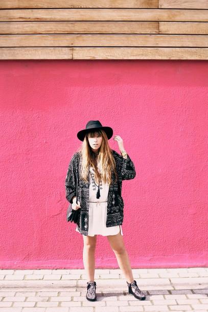 fringe and frange blogger cardigan hat tunic dress boho boho dress