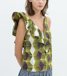Tropicano Printed Top - Juicy Wardrobe