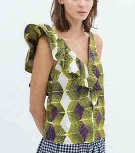 Tropicano Printed Top - Juicy Wardrobe