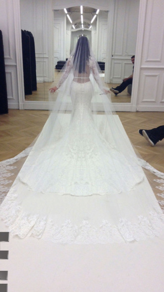 dress givenchy kim kardashian kim wedding dress haute couture kanye west kimye wedding dress kardashians mermaid prom dress backless white dress paris kim k wedding fashion
