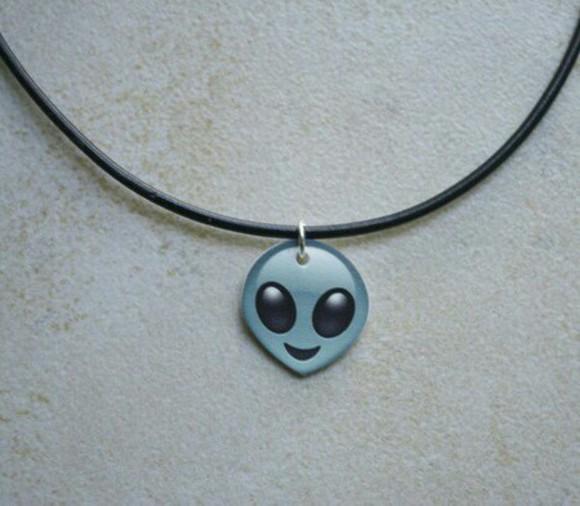 necklace hair accessories alien emoji