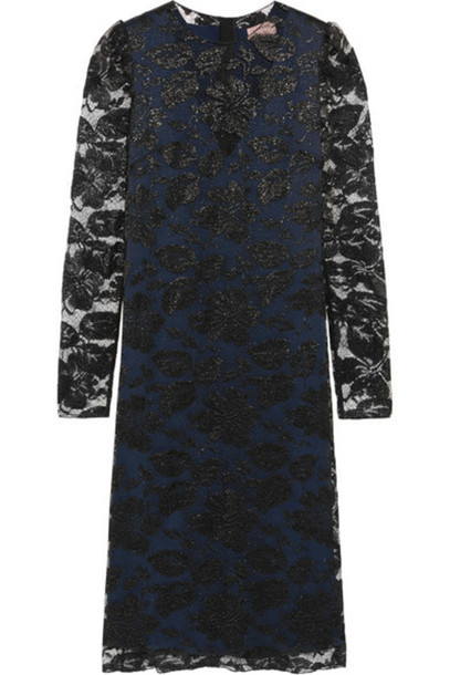 Lanvin - Metallic Floral-lace Dress - Black
