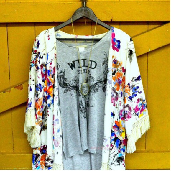 top t-shirt necklace festival native american cardigan wild wild spirit fringes