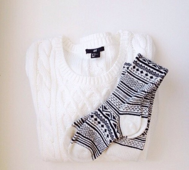 socks sweater