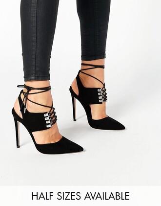 shoes asos heels pumps lace up heels