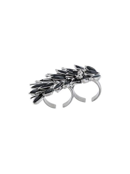 Saint Laurent metal women ring black jewels