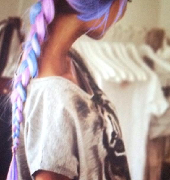 shirt pastel hair