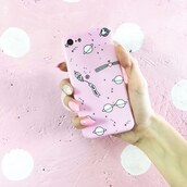 phone cover,yeah bunny,iphone,cover,space,pastel,pink,iphone8