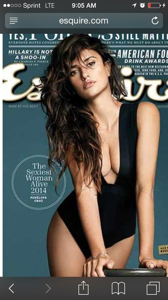jumpsuit black bodysuit swimwear penelope cruz