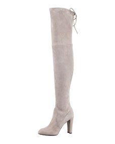 Highland Suede Over-the-Knee Boot, Topo