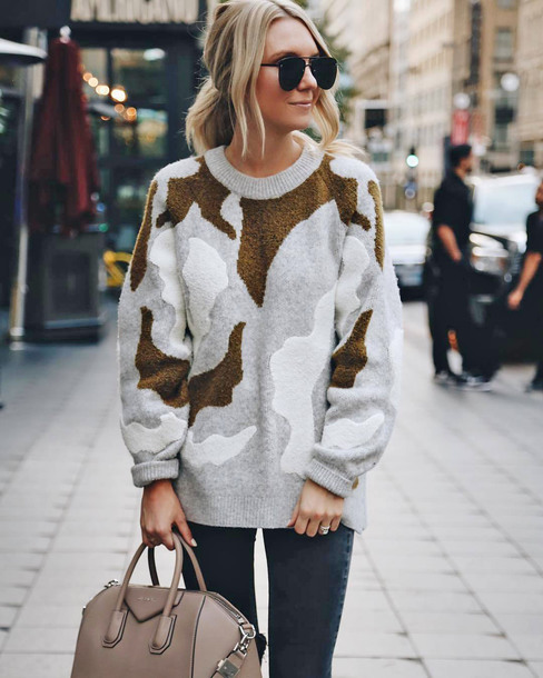 sweater tumblr knit knitwear knitted sweater multicolor sweater weather sunglasses grey sweater