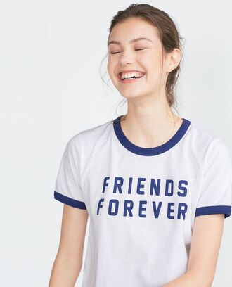 shirt friends forever blue and white