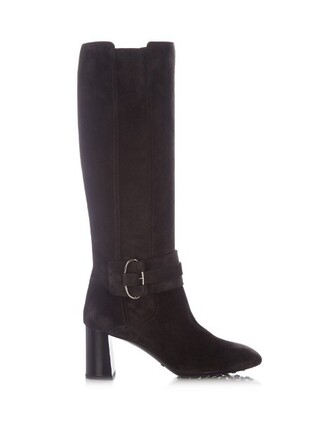 high boots suede boots suede dark grey shoes