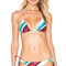 Vix swimwear vintage stripe tri bikini top in white from revolve.com