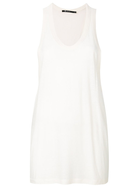 T by Alexander Wang tank top top women white silk