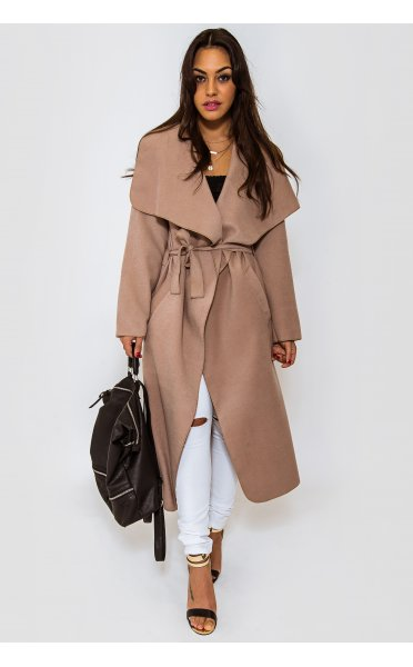 Khloe Waterfall Coat In Camel - from The Fashion Bible UK