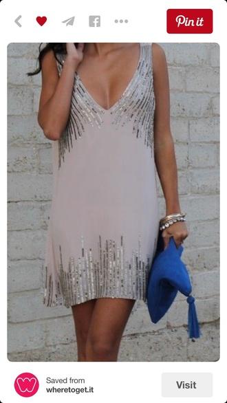 dress sequins tan long glitter dress nude dress