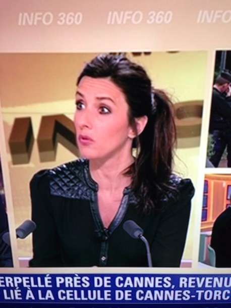 blouse bfm tv journaliste
