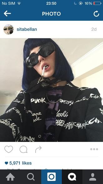 jacket grunge punk black edgy