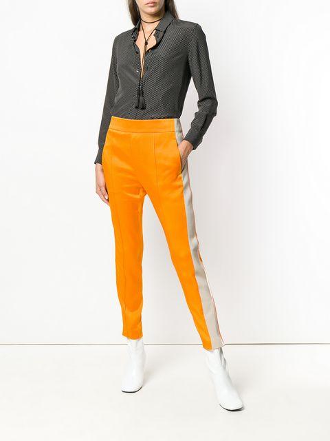 Haider Ackermann Stripe Detail Tapered Trousers - Farfetch
