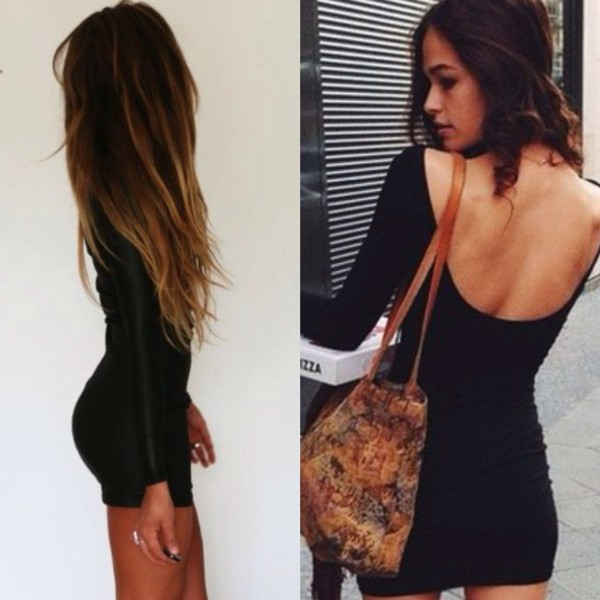 Dress: petite, bodycon dress, bodycon, black dress, tight, little ...