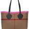 Medium reversible check canvas tote bag
