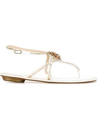 rose embellished sandals white shoes