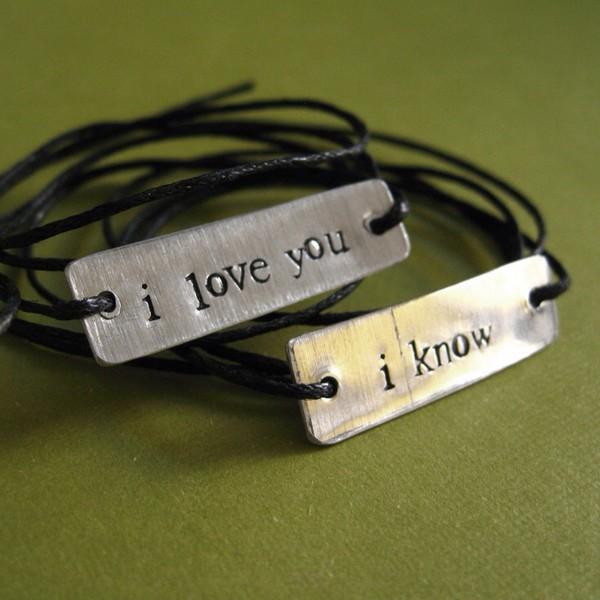star wars bracelets han solo amp princess leia i love you