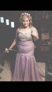 dress,lavender prom dresses,mermaid prom dress,pretty prom dress