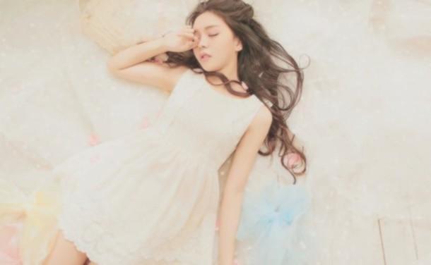 dress white dress lace dress cute dress korean fashion