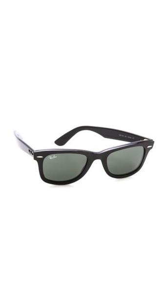 Ray-Ban Original Wayfarer Sunglasses - Black/Green