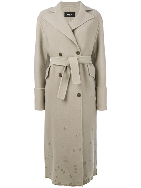 YANG LI coat double breasted women nude wool