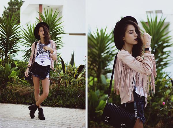t-shirt white t-shirt hipster jacket black shorts denim shorts hipster shorts streetstyle stylemoi swag