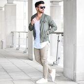 jacket,bomber jacket,khaki,style,fashion,trendy,outerwear,casual,menswear,kanye west,36683