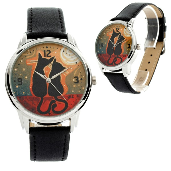 jewels watch watch cats black cats moon moonlight two cats ziz watch ziziztime