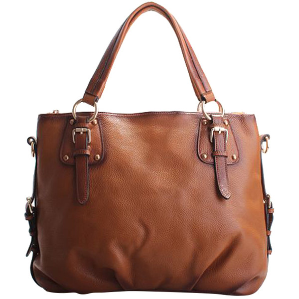 Tilli Buckle Feature Bag In Coffee Brown - Polyvore