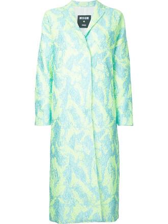 coat metallic women midi green