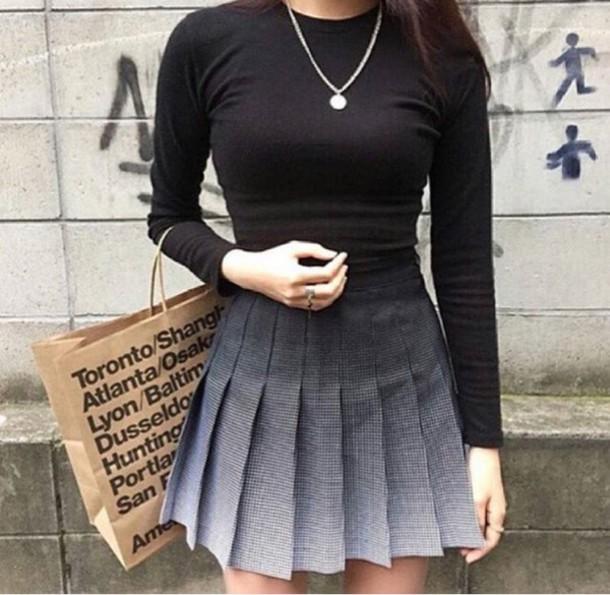 97b841c4459 APPAREL itGirl Shop. skirt ombré skirt midi skirt black and white Wheretoget
