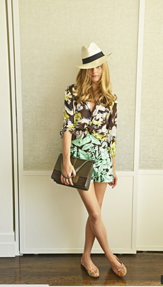 olivia palermo shoes shorts shirt
