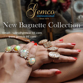 jewels,gemco international,baguette,rings and jewelry,fashion rings,gold ring,opal,gemstone,cocktail rings