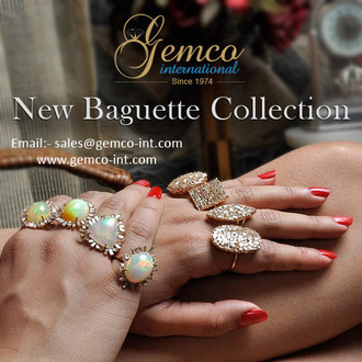 jewels gemco international baguette rings and jewelry fashion rings gold ring opal gemstone cocktail rings