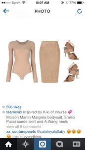 blouse,bodysuit,skirt