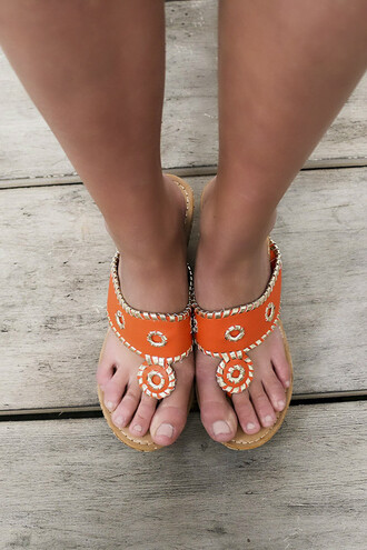 shoes orange embellished thong cork wedges heels sandals jack rogers style cute summer amazinglace.com amazinglace