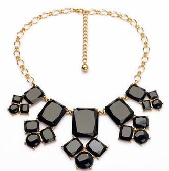 jewels cool statement necklace statement black necklace