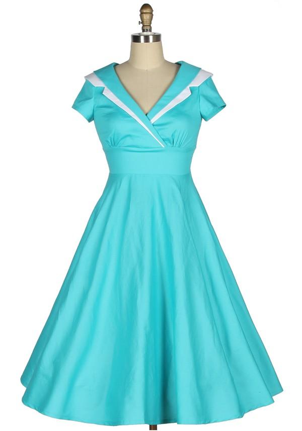 40s vintage retro dance dance dress vintage style blue dress swing dress long dress sailor sailor dress