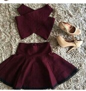 dress,red dress,red,two piece dress set,two-piece,silk,cotton,heels,red hair,swag,asap